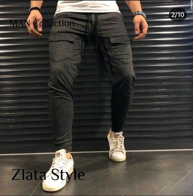 Мужские стильные штаны 7411 расцветки Турция SALE