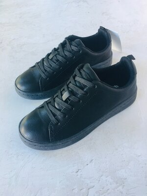 Нові чорні туфлі кеди для хлопчика підлітка в школу нм хм h&m 35 37 37 38 39