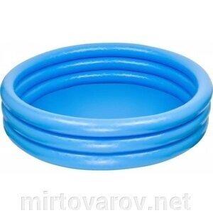 Бассейн надувной 59416NP трехкольцевой Crystal Blue Pool, Intex
