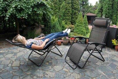 Садовое кресло шезлонг раскладное ZERO GRAVITY XXL 120 кг. Польша