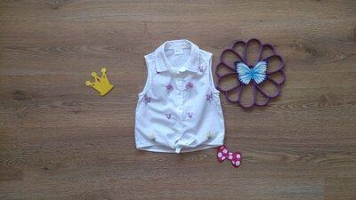 Топовая рубашка с завязками и вышивкой