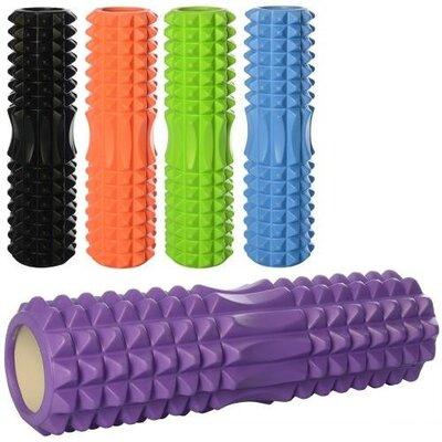 Массажер MS1843 Валик, ролик, роллер, рулон для йоги, размер 45х14 см 5 цветов