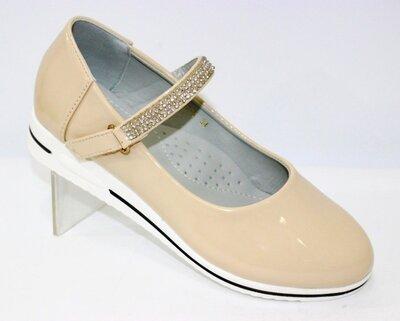 бежевые туфли для девочки