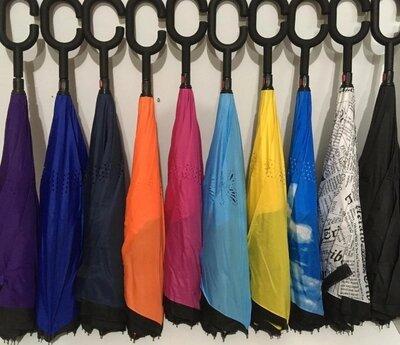 Зонт наоборот Up-Brella женский умный антизонт смарт зонт