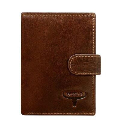 Продано: Мужское кожаное портмоне на кнопке Always Wild D1072L-VTU M.Brown