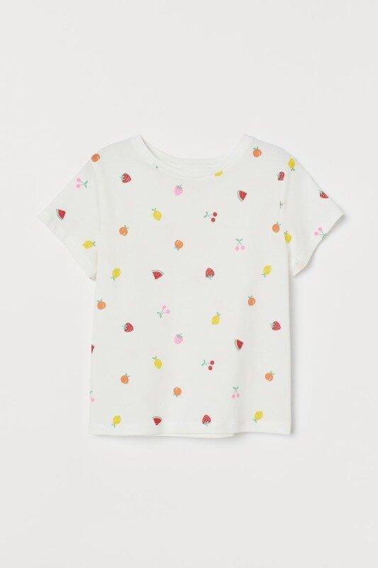 Футболка с принтом для девочки H&M: 100 грн - футболки, майки h&m в Днепропетровске (Днепре), объявление №26600890 Клубок (ранее Клумба)