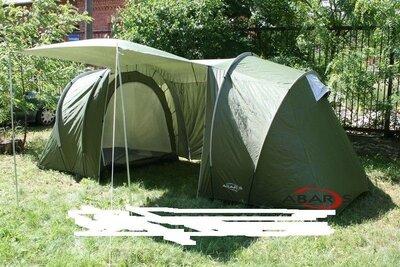 Палатка Abarqs Gobi-4, тамбур, проклеенные швы. Польша. Ka.