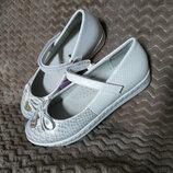 Качественные, стильные туфельки Tom.m 32-37р. Кожаная стелька с супинатором