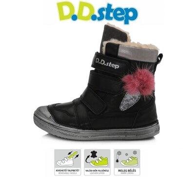 Зимові чобітки D. D. Step 25-36р шкіра, шерсть