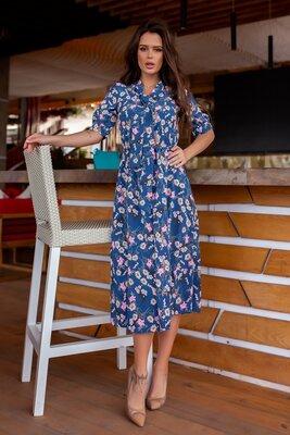 Женское пышное длинное платье до колен с рукавм женские длинные пышные повседневные летние платья