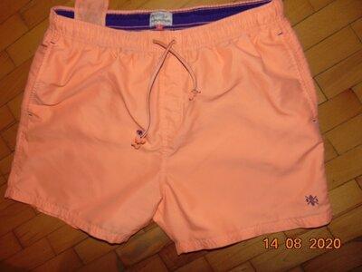 Стильние пляжние брендовие шорти оранж капри Next Некст .л .