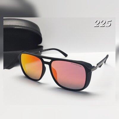 Мужские очки porshe красная линза с поляризацией в матовой оправе