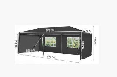 Садовый павильон 3x6 м серый Палатка Павильон Шатер