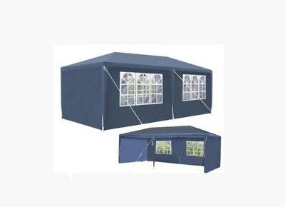 Садовый павильон 3x6 м синий Палатка Павильон Шатер