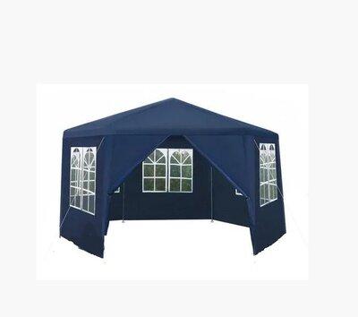 Садовый павильон 2x2x2м синий 6-секционный 6 Стен Палатка Павильон Шатер P7909