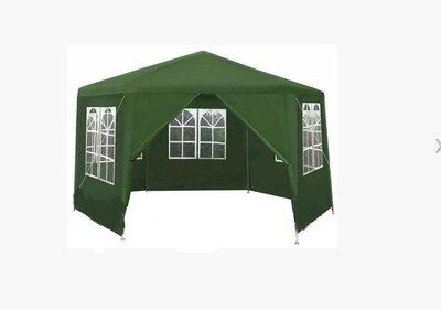Садовый павильон 2x2x2м зелений 6-секционный 6 Стен Палатка Павильон Шатер P0121