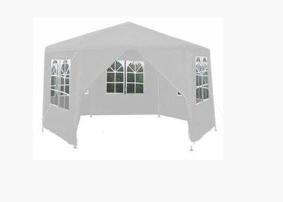 Садовый павильон 2x2x2м белий 6-секционный 6 Стен Палатка Павильон Шатер P0122