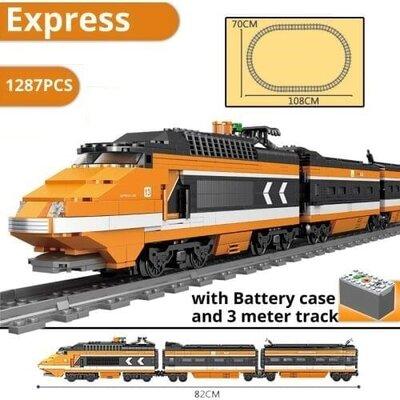 Конструктор Kazi 98223 Скоростной поезд 1287 деталей