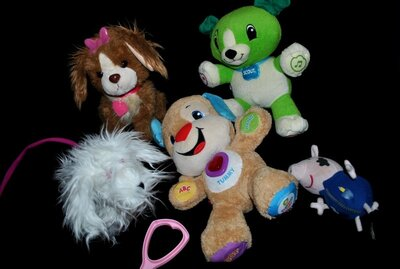 Умный щенок собачка на поводке Vtech Hasbro Fisher лот интерактивные игрушки