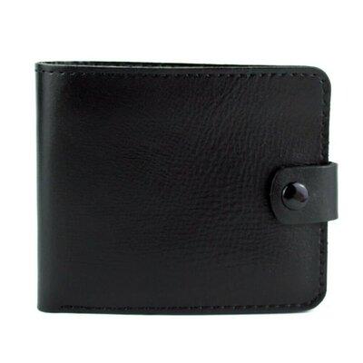 Кожаное мужское портмоне П1-01 черное
