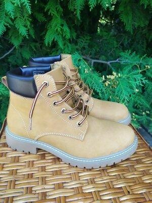 Ботинки демисезонные кожаные мужские