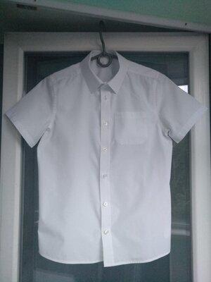 Рубашка школьная f&f р.140-146 мальчику 10-11лет белая шведка сорочка