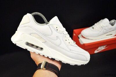 Кроссовки мужские Nike Air Max 90, белые 41-46р