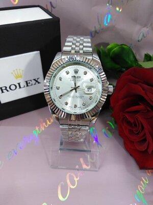 Женские часы Rolex Date Just Ролекс элитные часы цвет серебро реплика