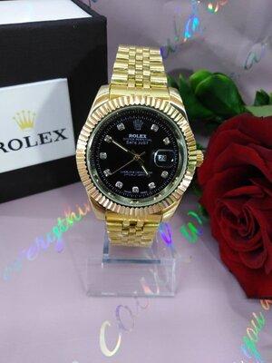 Женские часы Rolex Date Just Ролекс элитные часы цвет золото реплика
