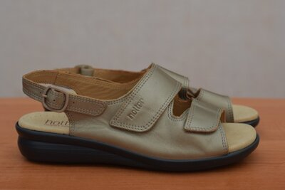 Кожаные босоножки, сандалии золотистого хаки Hotter, 39 размер. Оригинал