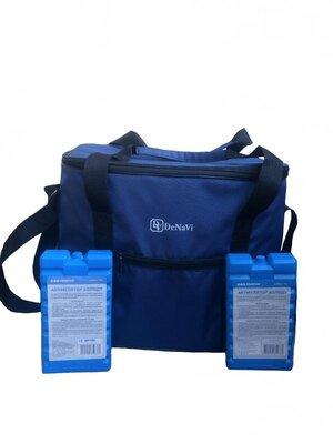 Термосумка Denavi Денави, сумка-холодильник 30 литров с двумя аккумуляторами холода в комплекте
