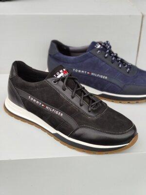 Кожаные мужские кроссовки, 2 цвета