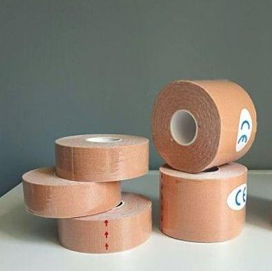 Кинезио Тейп Kinesio Tape для лица и тела 2,5см х 5м и 5см х 5м