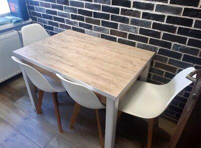 Кухонный раскладной стол 90х70см Марсель белый дуб шервуд