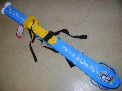 Лыжи с палками детские 2 цвета, Технок, новые