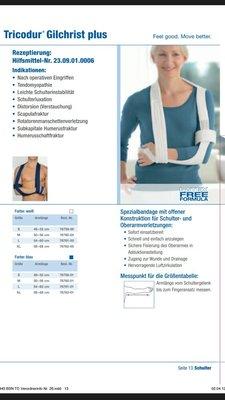Плечевой бандаж повязка косынка Tricodur Gilchrist Plus