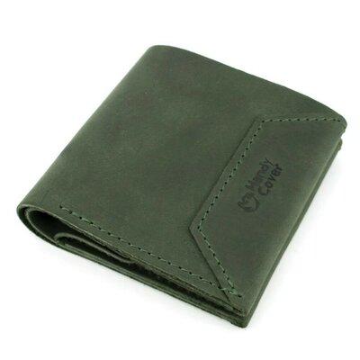 Женский кожаный кошелек на кнопке Handycover HC0088 зеленый