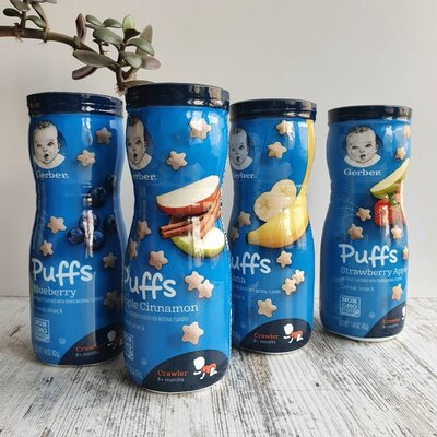 Продано: Gerber puffs от 8 месяцев снеки детские
