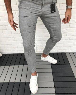 2020. Варианты Мужские стильные брюки, штаны, полоска, клетка серые черные классика dj-112