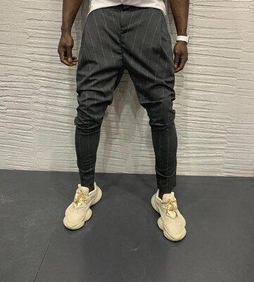 2020. Варианты Мужские стильные брюки, штаны, полоска, клетка серые черные классика dj-40s