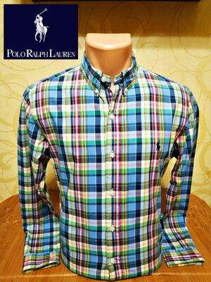 приталенная рубашка в клетку Ralph Lauren, оригинал, пр-во Филиппины, р.М