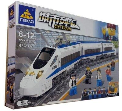 Конструктор Kazi 98227 Скоростной пассажирский поезд с мотором