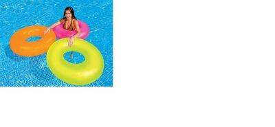 Надувной круг Intex 59262NP неоновый с блеском