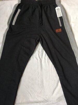 Мужские спортивные штаны, черные и серые. от 48 по 66 р. Хлопок. Узбекистан.