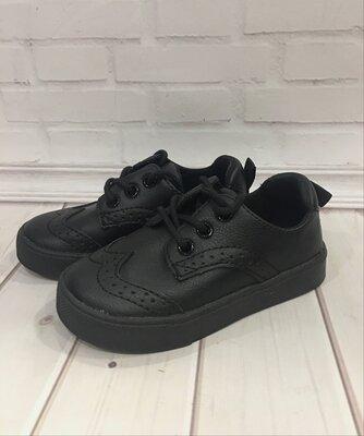 Нові чорні туфлі туфли броги нм хм h&m 24 р
