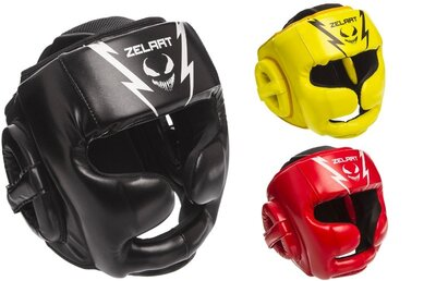 Шлем боксерский с полной защитой Zelart 1375 шлем бокс размер M-XL 3 цвета