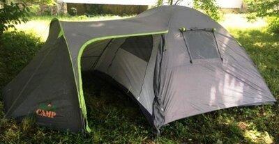 Палатка туристическая 4-х местная GreenCamp 1009-2 два входа 440x245x155 см