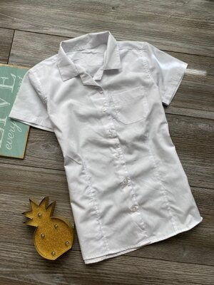 Рубашка школьная белая F&F 10-11л