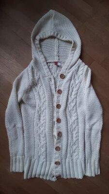 Вязанная кофта, кардиган, джемпер, свитер, зимняя кофта, крупная вязка
