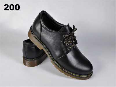Молодежные кожаные деми туфли на шнуровке. Днепр